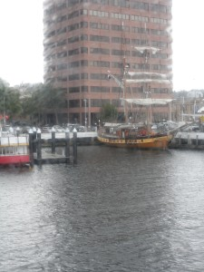 Hobart harbour, old and new